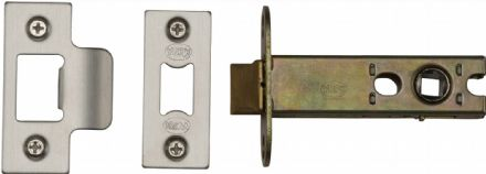 M Marcus York Security YKAL4-SN&SC Architectural Mortice Latch 102mm Satin Nickel/Chrome